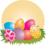 clip_art_illustration_of_colorful_easter_eggs_in_a_bed_of_grass_0515-1104-0120-2251_SMU
